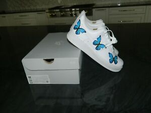 Nike Air Force 1 Custom Blue Butterfly Shoes 7.5 Women's NIB!