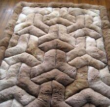 "Area Rug 68"" X 80"". Soff Alpaca Fur. Rectangle Brown.""Y"" Design. Soft alpaca fur"