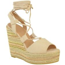 Womens Ladies Espadrille Wedges Lace Tie Up Strappy Party Platforms Sandals Size