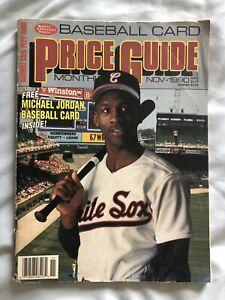 SCD BASEBALL CARD PRICE GUIDE NOV 1990 CARDS UNCUT W/ MICHAEL JORDAN Rookie