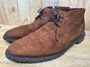 Allen Edmonds KATMAI Brown Suede Chukkas Boots Sz-11.5 D MSRP $449 USA