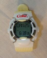 Diet Coke Digital Calorie Pulse Watch Heart Rate White & Ivory Yellow HRM-2518