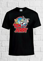 Tom and Jerry Cartoon Cat Mice Funny Gift Men Women Top Unisex T Shirt 2277