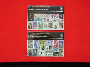GENUINE POSTAGE STAMPS 2 SETS MUSIC & MUSICIANS / PERFORMING ARTS