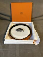 Hermes Belt 32mm Leather Reversible Black and Orange Size 90 Mens Womens