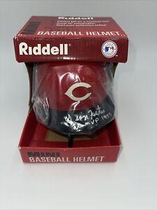Cincinnati Reds George Foster Autographed Signed Mini Helmet