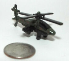 Very Small Die Cast US Army AH-64 Apache Attack Helicopter