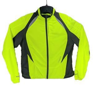 Brooks Shelter Tech Womens Neon Yellow Black sz M Reflective Running Jacket