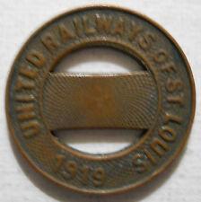 United Railways Company of St. Louis (Missouri) transit token - MO910H