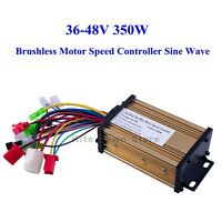 US 36V/48V 350W Brushless Motor Speed Controller Sine Wave Electric Bicycle