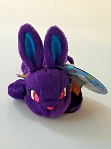 Rare Vintage 1998 Hopdiggity Lisa Frank Easter Spring Beans Rabbit Plush Beanbag