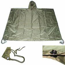 OD GREEN Nylon Military USMC Style All Weather Poncho Rain Coat Camping Hiking