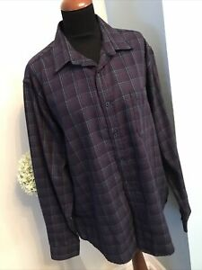 Designer JAMES PRINGLE Long Sleeve Short Size XL Navy Purple Excellent Condition
