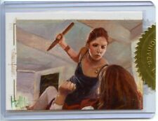 Buffy Tvs Ultimate Collection Series 2 Painted Sketch Card Buffy By Charles Hall