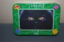 Blak Cat Note Cards Pack with Collectible Tin Picture Frame Kitty