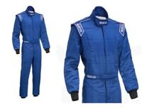 FIA Sparco Sprint RS-2 Race Suit, Size 48, Blue, 2 Layer Racing Rally Track Day