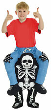 Skeleton Piggyback Kids Costume Inflatable Funny Halloween Morph Suits
