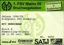 Ticket II. BL 98/99 1. FSV Mainz 05 - KFC Uerdingen, 28.05.1999