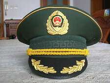 07's China Armed Police Force Firefighting Forces General Full Dress CAP,Hat