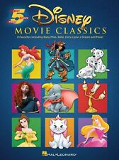 Five-Finger Piano Disney Movie Classics Learn to Play Beginner EASY Music Book
