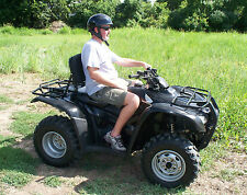 ATV Back Rest Easy Install Easy Use Transforms to Rear Seat Cushion Black NEW