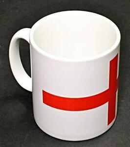England Flag Mug 10oz coffee cup ceramic motorcycle St. George's Cross UK Made