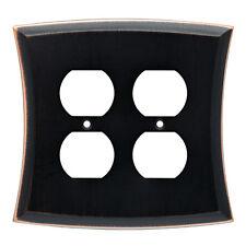 W20823-VBC Bronze & Copper Ivorten Double Duplex Wall Plate