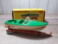 Dinky Toys Healey Sports Boat On Trailer Diecast 796 w/ Box Green Speed Model