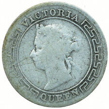 More details for coin / ceylon / 10 cents 1900 silver queen victoria beautiful coin  #wt30141