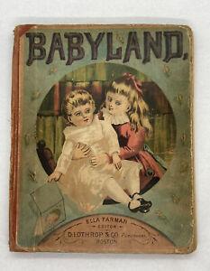 BABYLAND Bound Volume III 12 Issues 1879 Lothrop & Co. Boston 1st. Edition