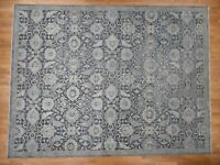 "12'x15'10"" HandKnotted Oushak Influence Silk with Oxidized Wool Rug G41309"