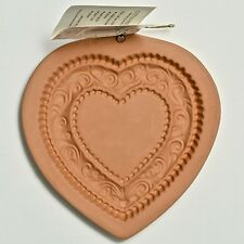 Vintage Heart Cookie Mold Stamp Paper Casting Art ~ Wedding Cookies! Unused.