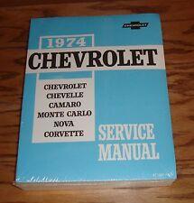 1974 Chevrolet Car Shop Service Manual 74 Chevy Corvette Camaro Chevelle