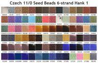 Czech 11/0 Rocaille Glass Seed Beads 6-strand Hank 1