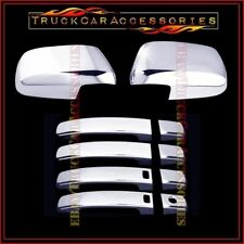 For NISSAN Frontier 2005-2017 Chrome Covers Set Mirrors+4 Doors w/o PK w/ Smart