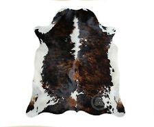 New Cowhide Rug Leather Brindle Tricolor Colombian 6'x8' Cow Hide Upholstery