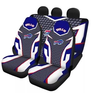 Buffalo Bills Car Seat Cover Universal Fit Truck Cushion Protector 5 Seat Gifts