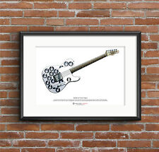 Syd Barrett's Fender Esquire guitar ART POSTER A3 size