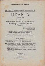 Urania, rivista, 1924, anno XIII n. 5, astronomia, mineralogia, chimica, fisica
