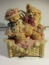 """Bainbridge Bears Collection  """"A Pleasant Chat"""" Music Box """"Yesterday"""" The Beatles"""