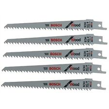 "5 Bosch S644D Reciprocating Sabre Saw Blades 6"" 150mm for WOOD HCS Extra Sharp"