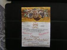 01 ETIQUETTE CHATEAU MOUTON ROTHSCHILD 1987 DECOLLEE