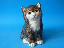 LARGE CUTE COLLECTABLE GREY LOWNDS PATEMAN BABBACOMBE POTTERY TOM CAT FREE UK PP