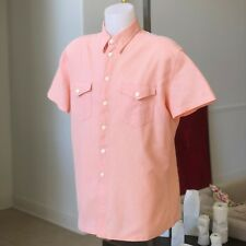 GIANNI VERSACE salmon cotton men's shirt with short sleeves size 52 from ss 1997