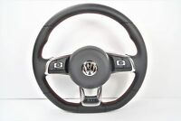 Volkswagen VW Golf Polo Passat Scirocco Jetta GTI R32 Steering Wheel Red Stitch