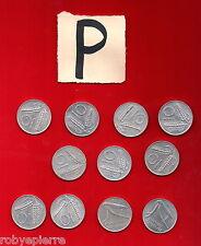 lotto 10 lire 11 monete 1951 1952 1955 1973 1974 1975 1977 1979 1980 1981 1982