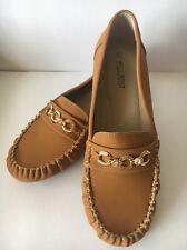 Women's Faux Suede Mocassins Loafers Flat Shoe Slip-on Casual Tan Size 8.5