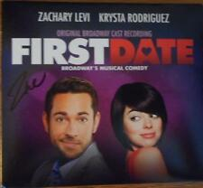 Zachary Levi (Only) Signed CD First Date OBC  Krysta Rodriguez Kristoffer Cusick