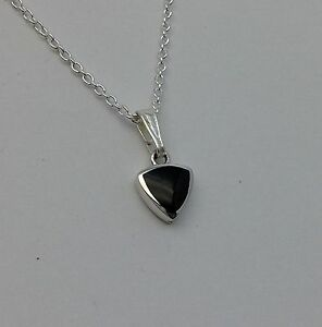 Genuine Whitby Jet and Sterling Silver  pendant jp094 Handmade in whitby