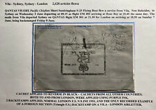 1953 Villa New Hebrides FDC Air Letter Cover Queen Elizabeth 2 Coronation To UK